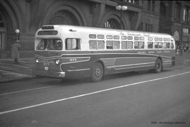 Historic photo chicago motor coach comapny general motors for General motors annual report 2010