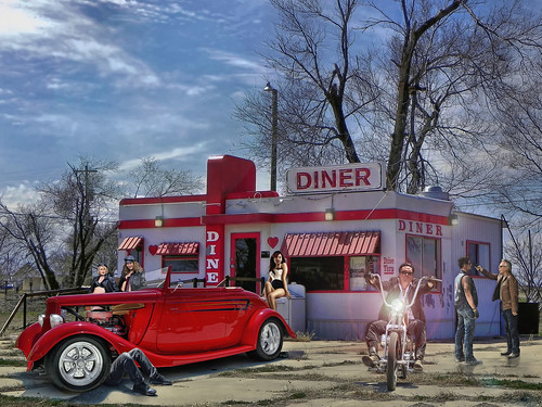 The Red Heart Diner .... | by Rat Rod Studios