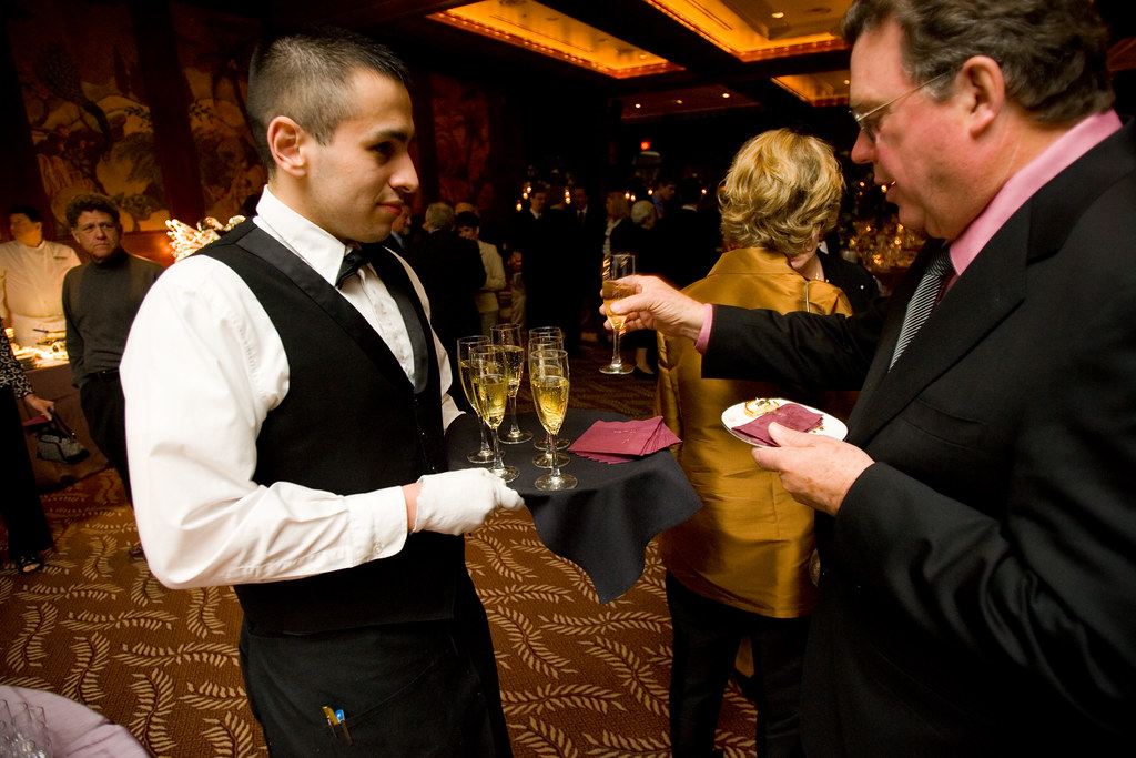 D'Amico Catering :: Server with Champagne | photo by Noah Wo… | Flickr