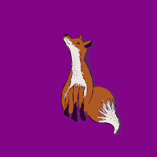 Fox on purple | by j_q_adams
