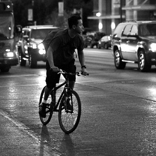 the urban cyclist in b/w #2 | by jmtimages