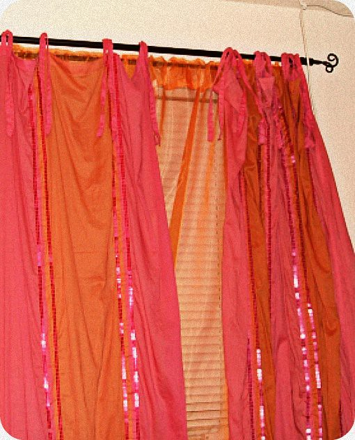 Bedroom Curtains Semi Sheer Two Tone Pink And Orange