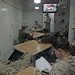 Marines relax aboard ship