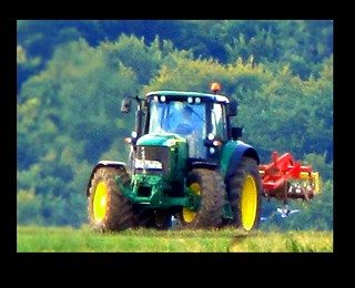 JOHN DEERE tractor, JD action and power in the distance | by eagle1effi