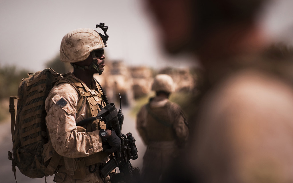 Marines Investigate IED Blast Site, Provide Support for Co ...