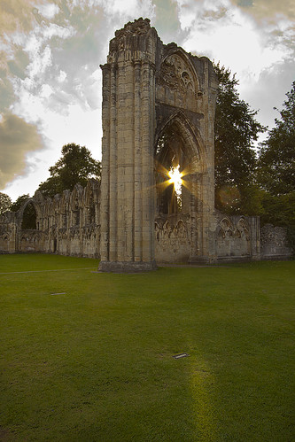 St Marys Abbey ruin sunset, York, Squirrel  in comment. | by Ianmoran1970