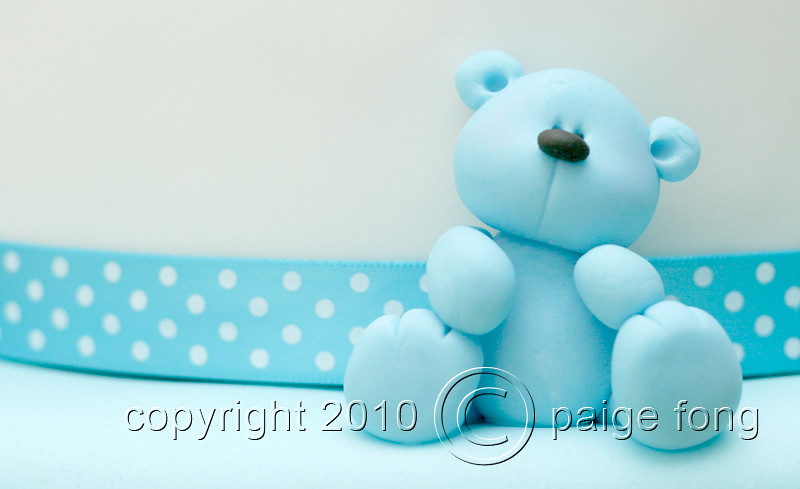 Blue fondant teddy bear from raes cake paige fong flickr blue fondant teddy bear from raes cake by paige fong thecheapjerseys Choice Image