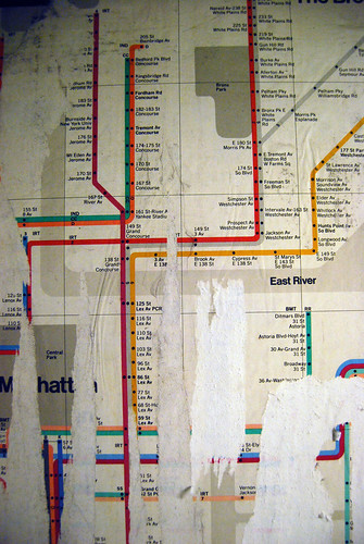 Exposed Vignelli map at 57 Street (F) station | by Paul Soulellis