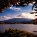 Cloudy Fuji at Sunset
