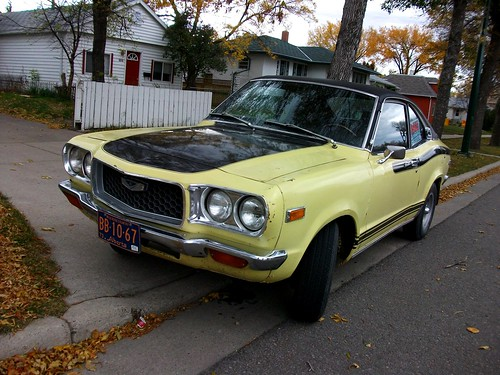 1973 Mazda 808 Lovely Yellow With Black Stripes Vintage