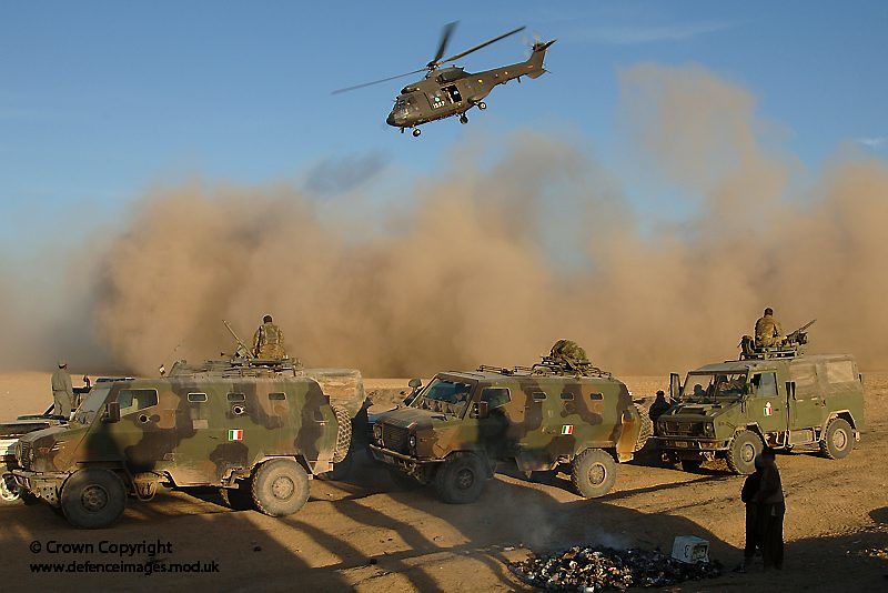 italian army convoy from the prt heads for farsi afghanistan by defence images