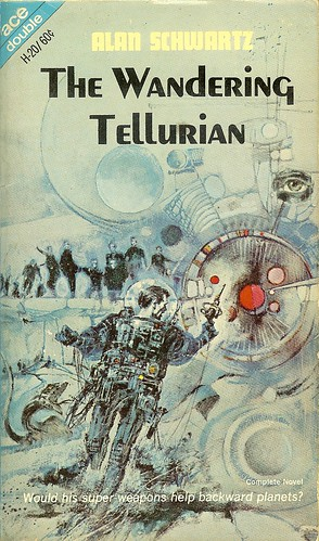 Alan Schwartz - Wanderering Tellurian - Ace Double H-20 Wanderering Tellurian - cover artist Podwil