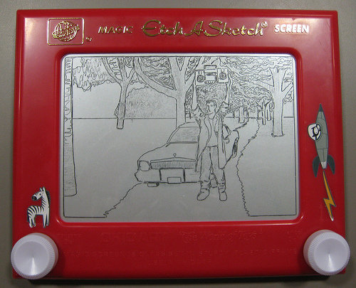"""Say Anything"" on an Etch-A-Sketch 