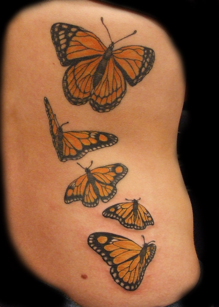 monarch butterfly tattoo 3 session inspired on shannon ar flickr. Black Bedroom Furniture Sets. Home Design Ideas