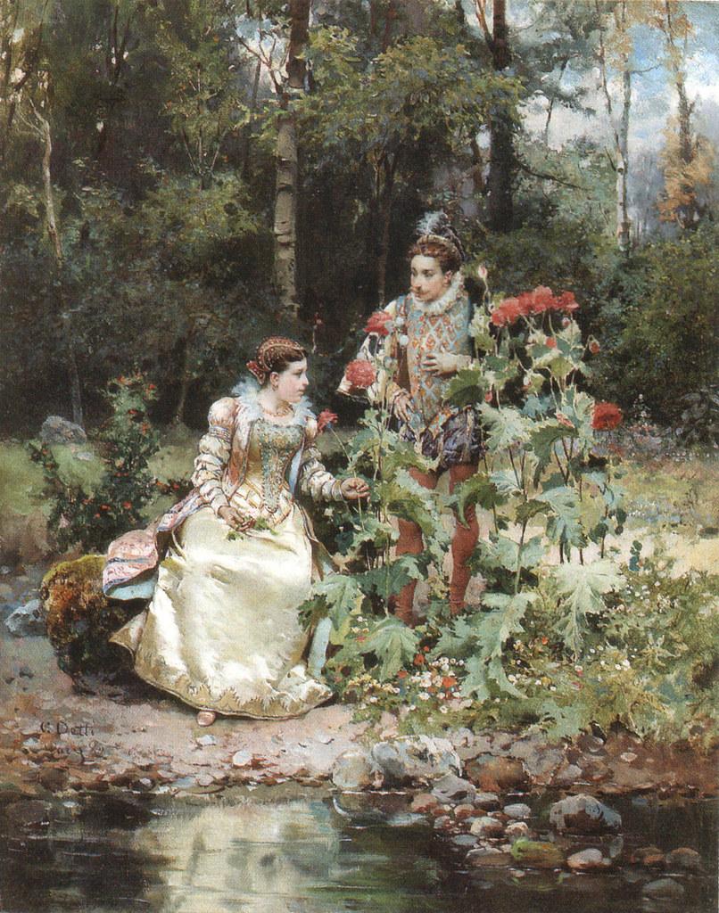 Cesare Augusto Detti Italian 1847 1914 Quot In The Garden