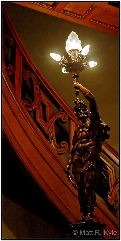 Knight of the stairs newel post light fixture the restor flickr of the stairs newel post light fixture by mrkyle229 aloadofball Image collections