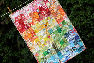 Scrapbuster - ROY.G.BIV Doll Quilt | by chickenjulie