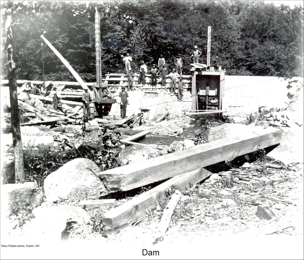 Dam Construction In Dublin New Hampshire Title Dam