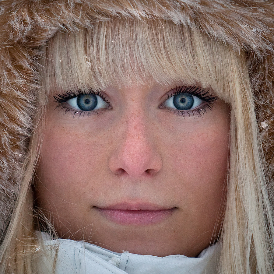 Swedish Girl With Fur Hat Color  Anette Holmberg  Flickr-5341