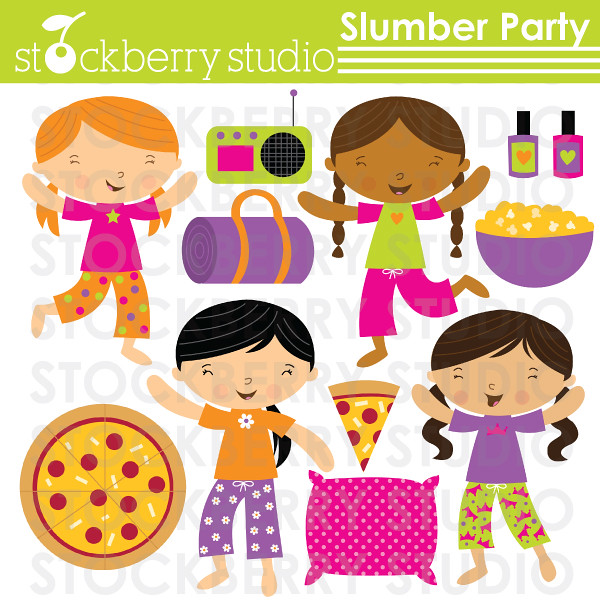 slumber party clipart set fun sleepover clipart set avail flickr rh flickr com Party Clip Art Pajama Party Clip Art