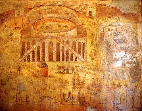 Pompeii painting riot during amphitheatre games 59ad led for Painting games com