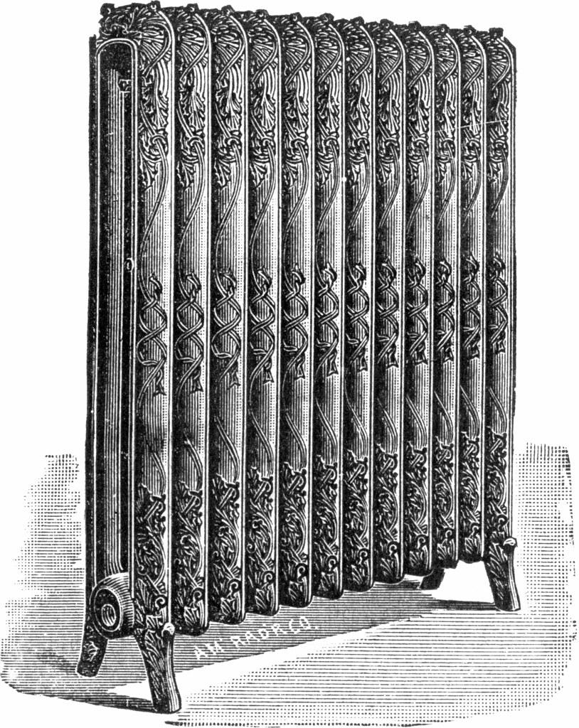 Radiateur en fonte gravure repr sentant un radiateur en for Decaper un radiateur en fonte
