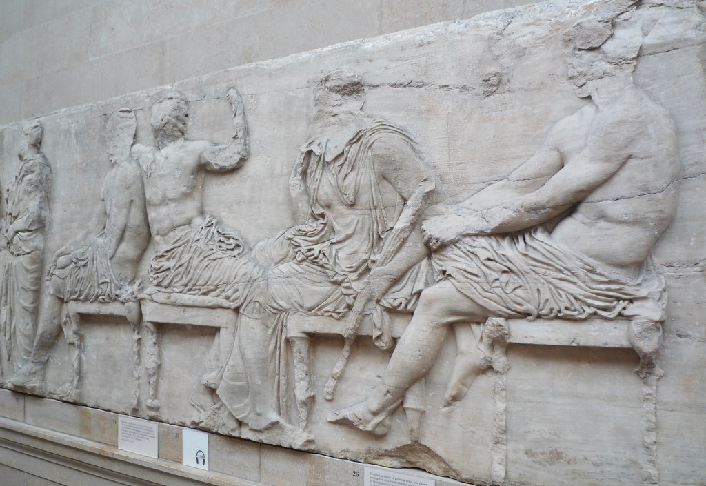 Parthenon, East Frieze, Slab 4 (Gods) | Phidias ...