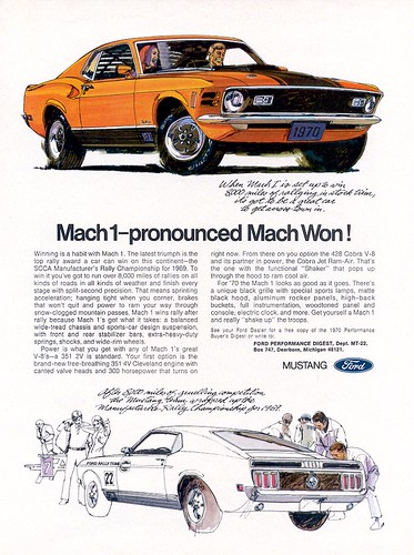 1970 Ford Mustang Mach 1 Ad - USA | by Five Starr Photos ( Aussiefordadverts)