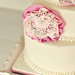 Vintage Chic Rosette & Pearl Cake