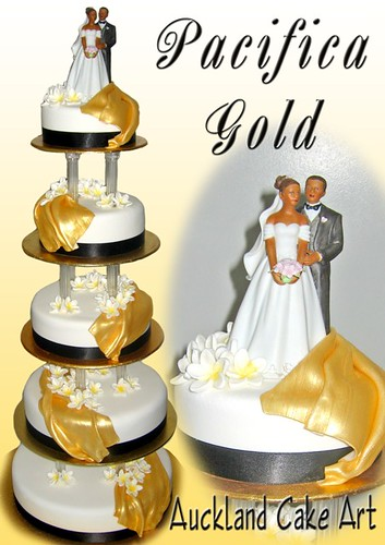 samoan wedding cakes pacifica gold 5 tier wedding cake pacifica gold 19639