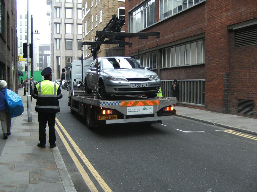 Car Getting Towed Away
