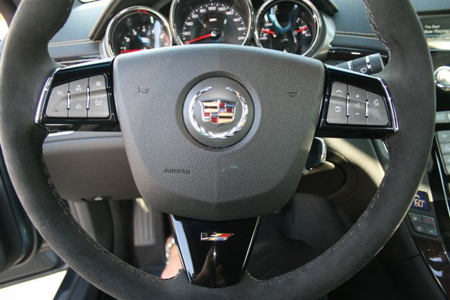 Suede Steering Wheel And Controls On The 2011 Cadillac Cts