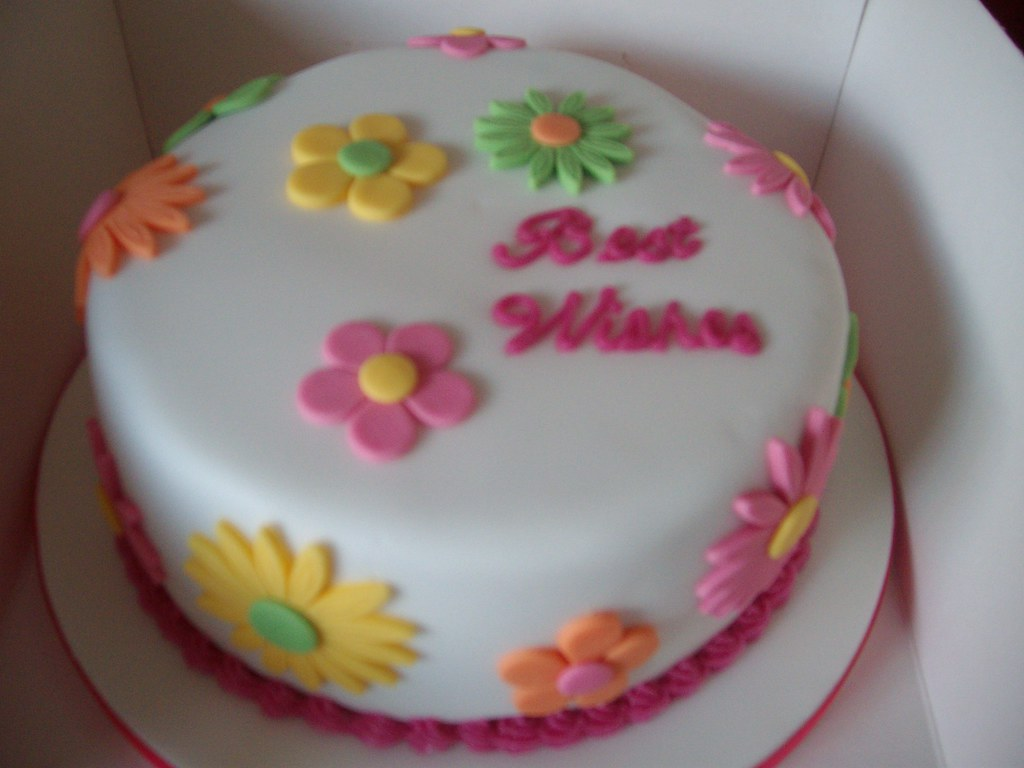 Best Wishes Flower Cake I Made This Cake For A Teachers