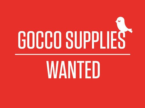 GOCCO SUPPLIES WANTED | by Studio MIKMIK
