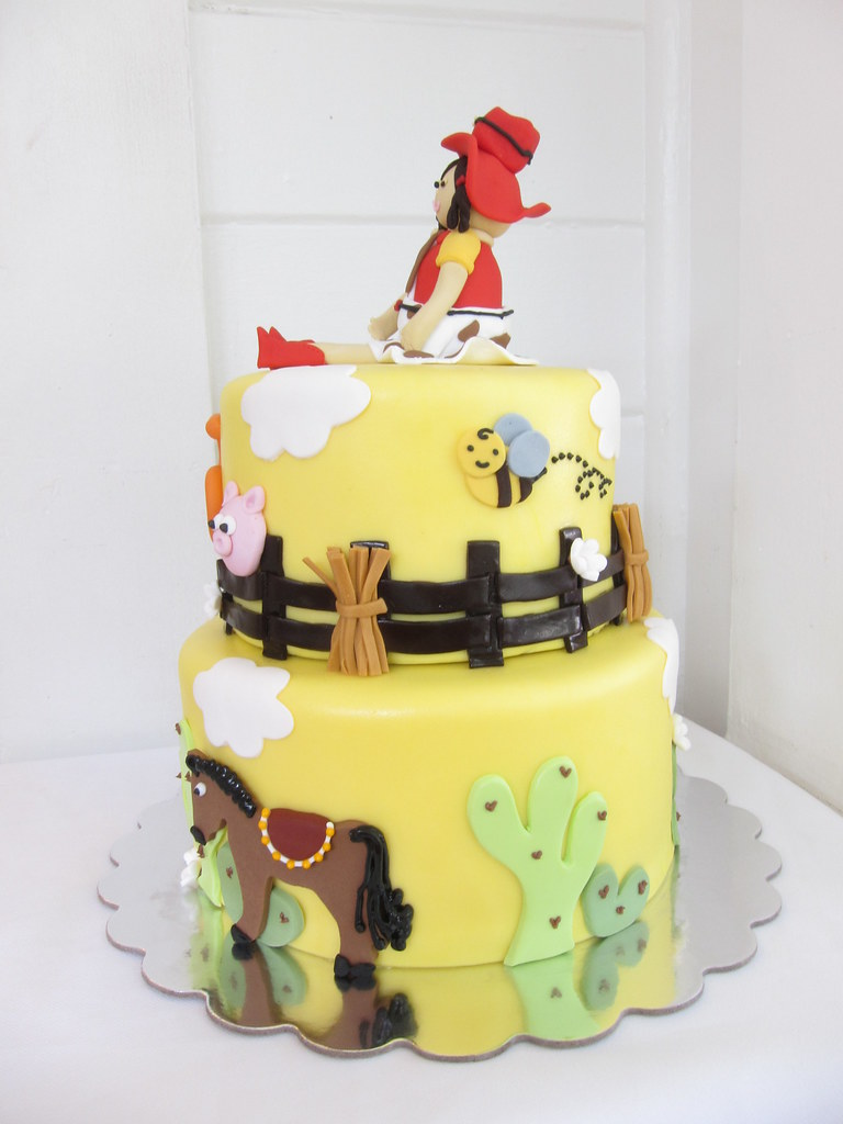 Awe Inspiring Cowgirl Birthday Cake Polkadots Olga Flickr Funny Birthday Cards Online Alyptdamsfinfo