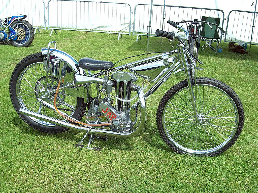 Speedway Motorcycle Racing Bikes: JAP Speedway Bike I Don't Know A