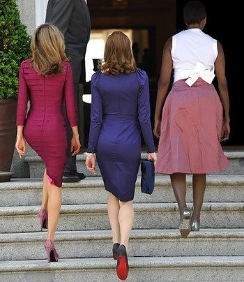 First Butts. Left to right - Princess Letizia of Spain, French first  lady Carla Bruni, and, yep, you guessed it... | by brucewagner