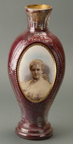 Victorian Glass Funeral Urn with Tinted Photograph of Lillian Russell - *Updated information **No it is not her funeral urn! | by Photo_History - Here but not Happy