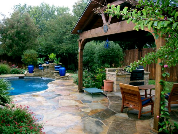 Flagstone Pool Deck Colleyville Texas This Outdoor Patio