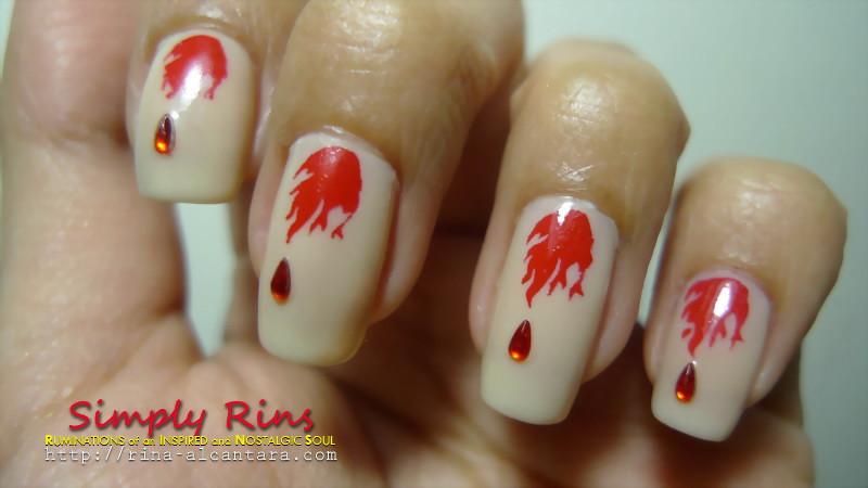 Nail Art Vampire Diaries 02 | Rina Alcantara | Flickr