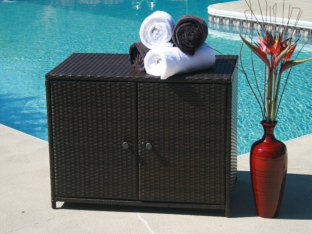 outdoor pool storage for towels | RSB & Co, Inc. | Flickr