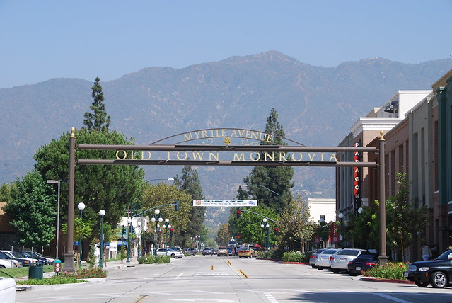 Monrovia Old Town Arch Across Myrtle Avenue Flickr Photo Sharing
