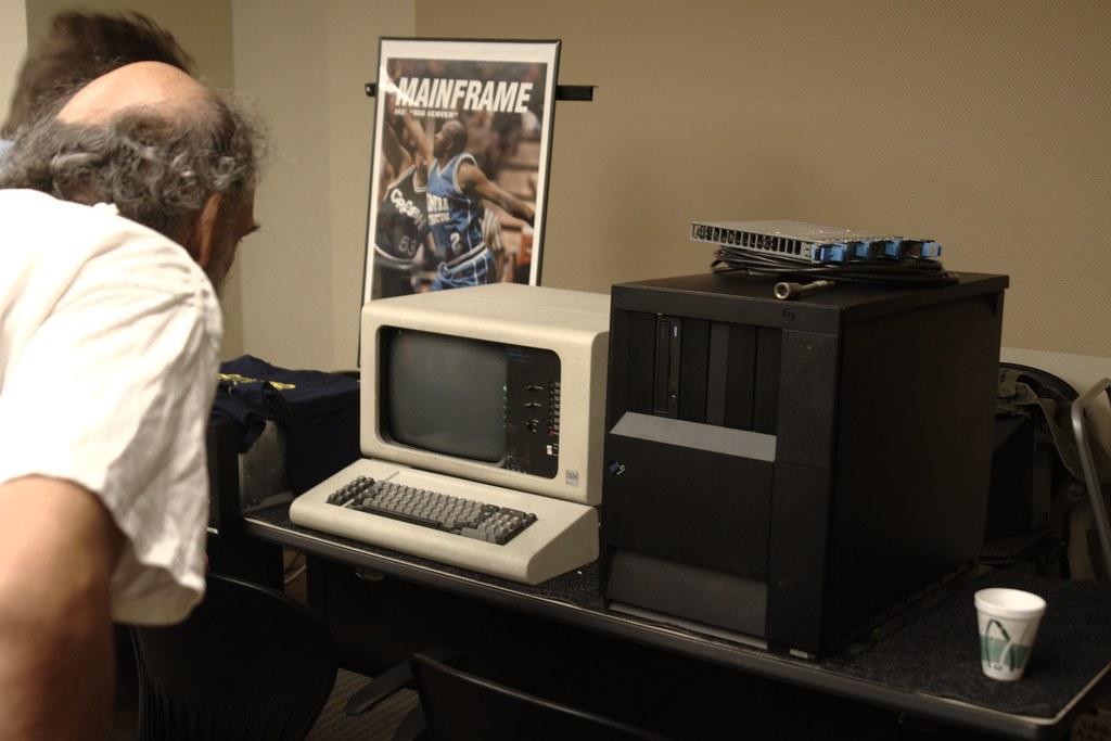 IBM AS/400 and 5251 twin-ax terminal | Patrick Finnegan | Flickr