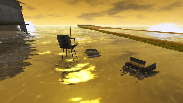 Chairs floating in water to fish wish flickr photo for Floating fishing chair