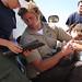 FWS biologist Joseph Brandt gauges the health of a condor