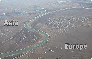 The Ural River Divides Asia Europe This Image Has Been U Flickr - Ural river on world map