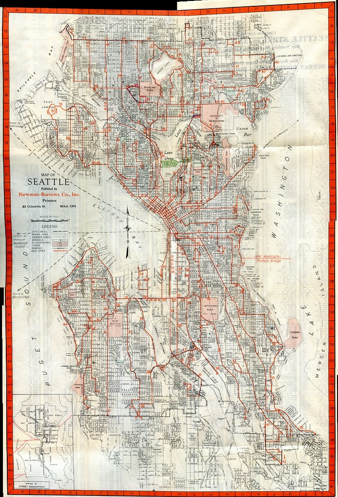 Transit Map of Seattle 1948 Please