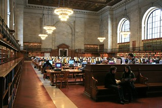 "New York City, New York Public Library NYPL, Stephen A. Schwarzman Building, 1897-1911 : "" Rose Main reading Room "" 