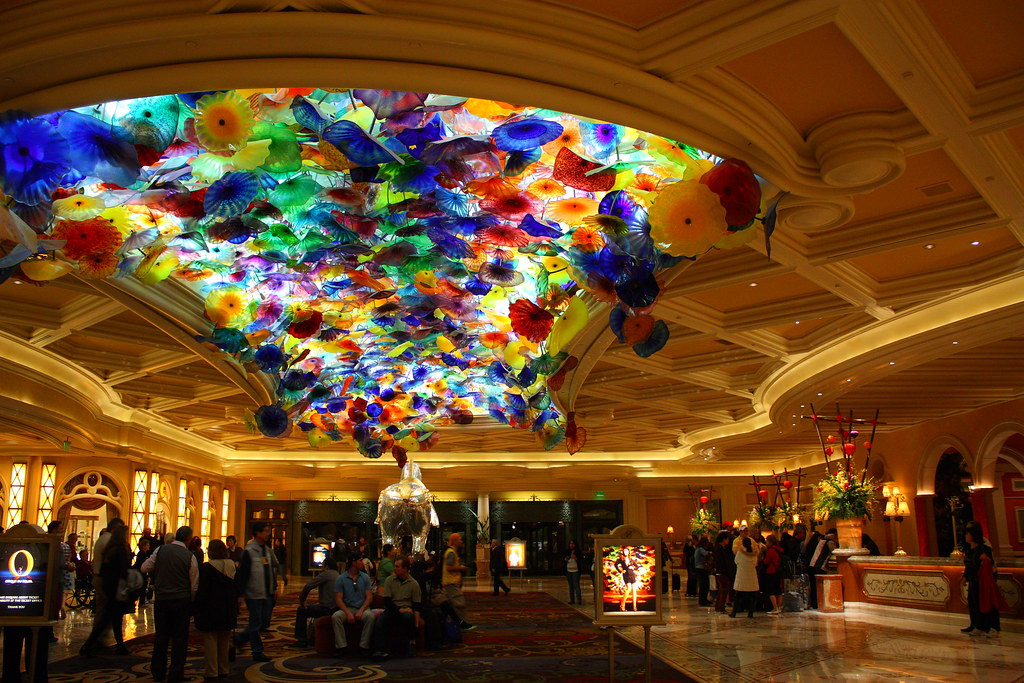 Beautiful Chihuly Glass Ceiling in Lobby of Bellagio | Flickr
