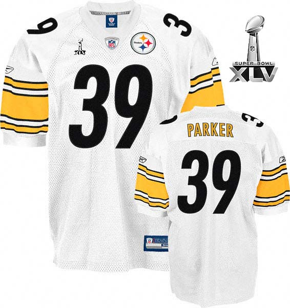 promo code 6aa01 99a64 Pittsburgh Steelers #39 Willie Parker White Super Bowl XLV ...